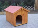 Niche à chien bi-pente pour chiens moyens / 0,96 m2 / toit bitumé