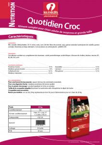 CROQUETTES QUOTIDIEN CROC 20 KG