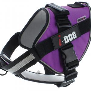Harnais «NeoCITY» I-DOG - Violet/Gris - Taille L