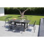 1 ensemble table Eos et 6 chaises graphite Eos