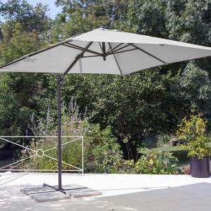 Parasol déporté Roma écru 2,5 x 2,5 m